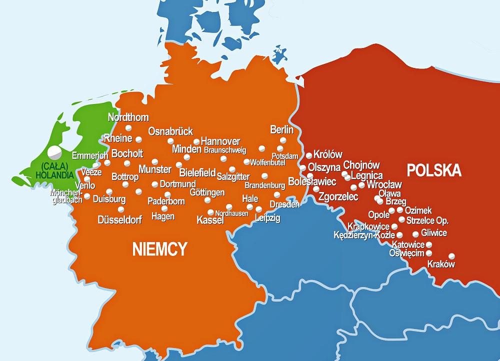 Obszar przewozu osób do Niemiec