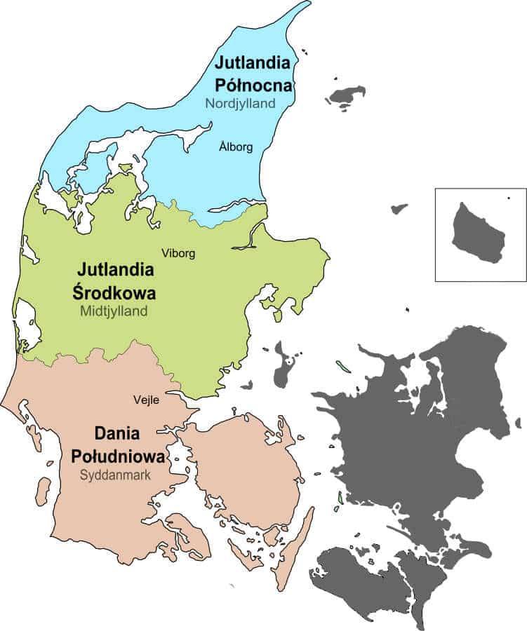 regiony administracyjne Danii
